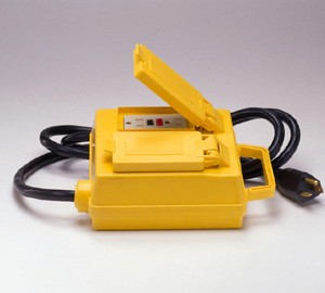 Portable Ground Fault Circuit Interrupter w/ Four 20 A Outlets