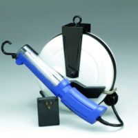 "Professional Fluorescent Retractable Cord Reel Work Light w/ automatic ""On/Off"" switch"