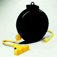 Retractable Extension Cord Reel w/ Circuit Breaker