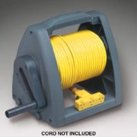 Manual Wind-Up Cord Storage Reel w/Mounting Bracket