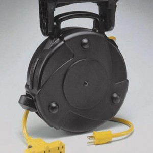 Industrial Retractable Extension Cord Reel w/ Tri-Tap and Circuit Breaker