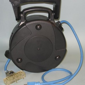 Industrial Retractable Extension Cord Reel w/ Circuit Breaker, Illuminated Tri-Tap & Cold Weather Cord