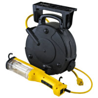 26 Watt Industrial Fluorescent Retractable Cord Reel Work Light