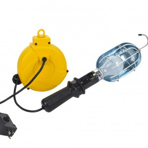 Incandescent Plastic Retractable Cord Reel Work Light