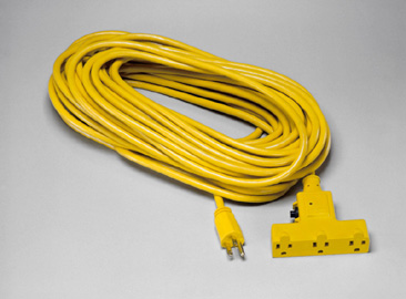 Triple Outlet Outdoor Extension Cord