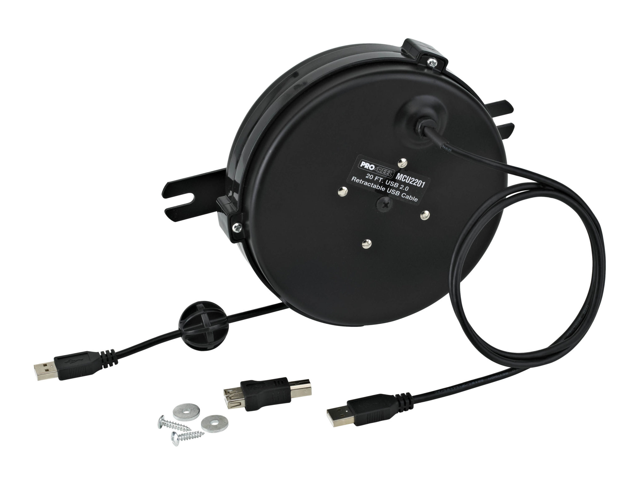 20 FT Retractable USB 2.0 Reel