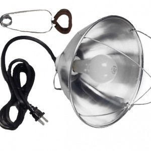 """10"""" Aluminum Shade Brooder Light with Wire Guard"""