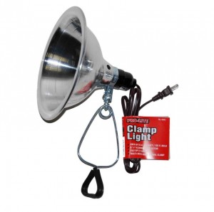 "8-1/2"" Aluminum Shade Clamp Lamp"