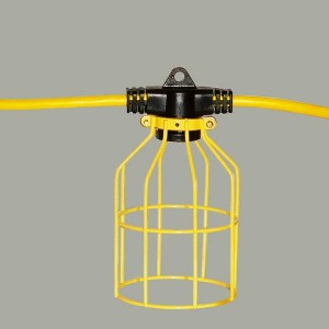 50 ft Temporary Light String, Linkable, Metal Guard