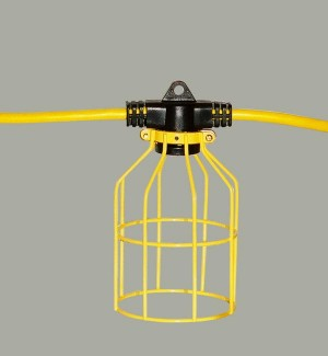 100 ft Temporary Light String, Linkable, Metal Guard
