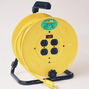 Hand Wind Extension Cord Reels with Outlets