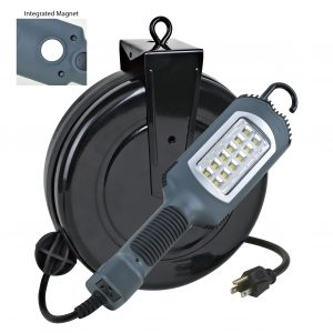12 Watt 1000 Lumen LED Cord Reel Work Light