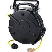 15 amp retractable extension cord reel from alert stamping. Black Bedroom Furniture Sets. Home Design Ideas