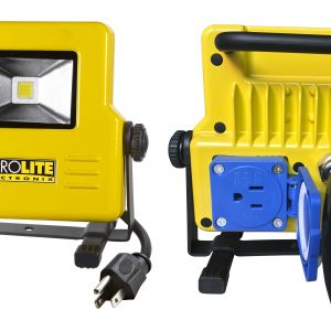 led flood light with outlet